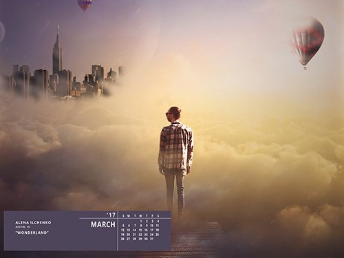 Get the March Desktop Wallpaper From Our 2017 Talent Calendar image